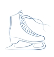Sketched ice skates vector image vector image