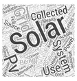 Solar Energy Collecting as Alternative Energy vector image vector image