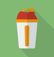 Sport shaker icon Modern Flat style with a long vector image vector image