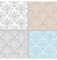 Summer floral seamless pattern set vector image vector image