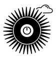 switch sun off icon simple style vector image