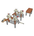 table saws machine on white background vector image vector image