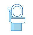 toilet bowl equipment bath ceramic cartoon icon vector image vector image
