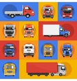 truck icons flat vector image