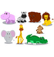 wild animal cartoons vector image