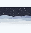 winter snowfall with snowflakes at night cold vector image vector image