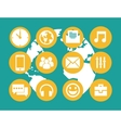 communication icons with Earth on background Eps vector image