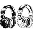 Headphones One Color Drawings vector image