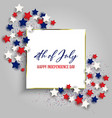 4th july independence day background with vector image vector image