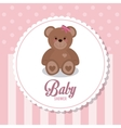 Baby Shower design teddy bear icon vector image vector image