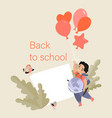 back to school concept banner template vector image