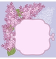 background for design with flowers of lilac vector image vector image