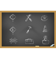 blackboard Construction icons vector image vector image