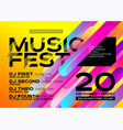 bright autumn electronic music poster vector image vector image