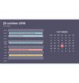 calendar infographic table chart presentation vector image vector image