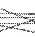 chain steel icon design vector image vector image
