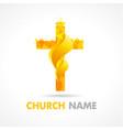 church fire logo vector image vector image