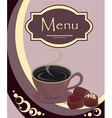 coffee house or shop menu vector image vector image