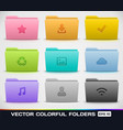 Colorful Folder Types vector image