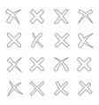 cross outline set vector image