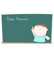 Dear parents blackboard