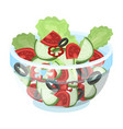delicious vegetable salad vegetarian food single vector image vector image