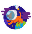 dog in space vector image
