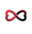 everlasting love concept symbol created with vector image vector image
