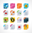 file labels icon set vector image vector image