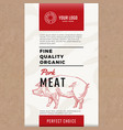 fine quality organic pork abstract meat vector image vector image