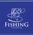 fishing logo design template vector image vector image