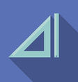 flat design modern triangle and straightedge vector image