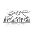 flat linear landscape vector image vector image