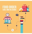Food order Online shopping e-commerce mobile vector image