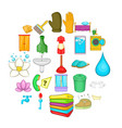 frequenter icons set cartoon style vector image vector image