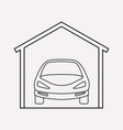 garage icon line element of vector image
