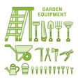 garden equpment icons vector image vector image
