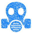 gas mask grunge icon vector image