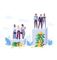 gender gap and inequality in salary woman vector image vector image