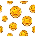 Gold coin background vector image