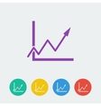 graph flat circle icon vector image