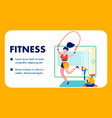 gym fitness internet blog flat banner template vector image vector image
