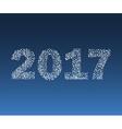 Happy New Year 2017 starburst vector image vector image