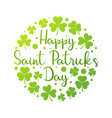 happy saint patricks day round bright vector image vector image