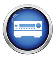 Home theater receiver icon vector image