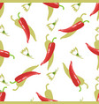 hot cayenne pepper chile and flowers seamless vector image vector image