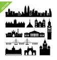 india mumbai landmark silhouettes vector image vector image