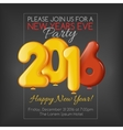 Invitation to New Year party with balloons vector image