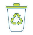 isolated recycle bin vector image