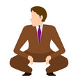 isolated squatting businessman vector image